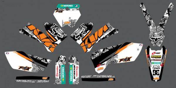 Imagens Kit Autocolantes Para Moto  - KTM EXC XC 04-07