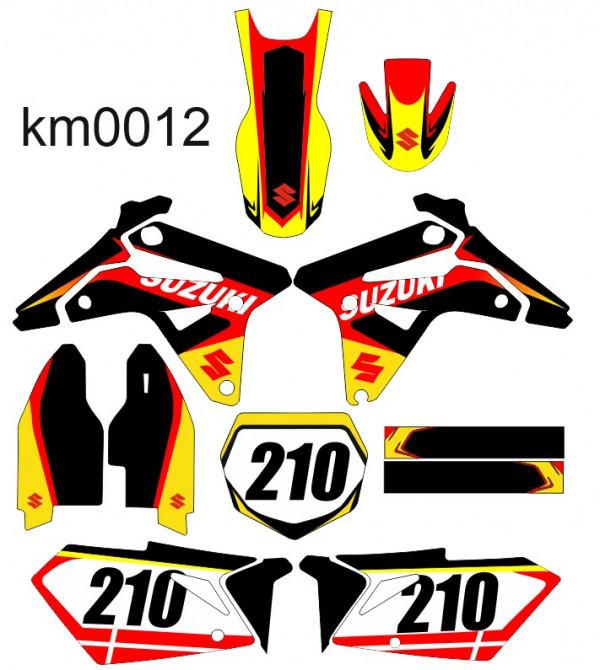 Kit Autocolantes Para Suzuki RMZ 450 2007