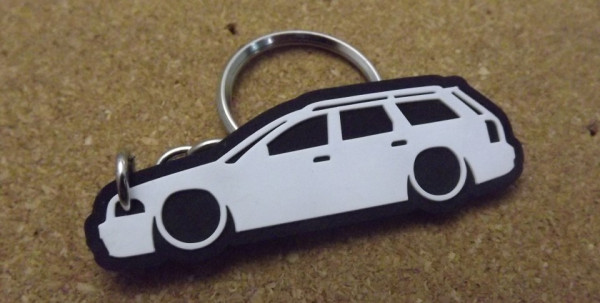 Porta Chaves com silhueta de Audi A4 B5 Avant