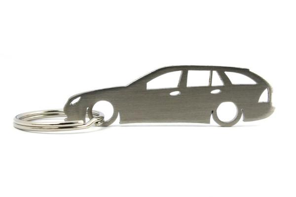 Porta Chaves em inox com silhueta com Mercedes C W203 wagon