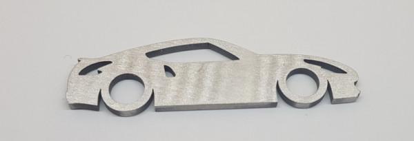 Porta Chaves em inox com silhueta com Nissan 370z