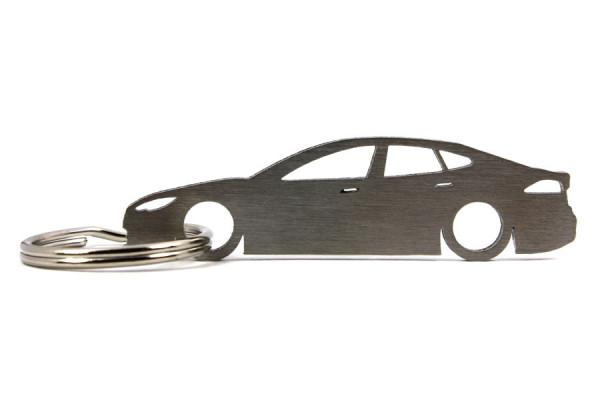 Porta Chaves em inox com silhueta com Tesla Model S