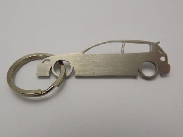 Porta Chaves em inox com silhueta de Honda Civic EG