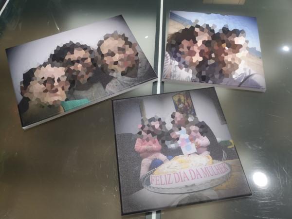 Imagens Tela com impressão de imagem / foto cedida pelo cliente