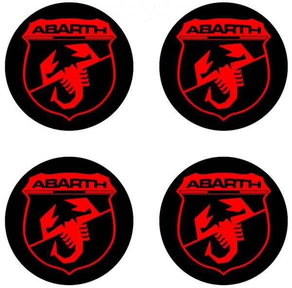 4 Autocolantes Para Centros de Jantes para Fiat ABARTH