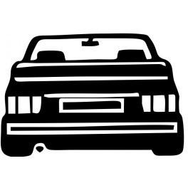 Autocolante com silhueta VW Golf MK1 Cabriolet