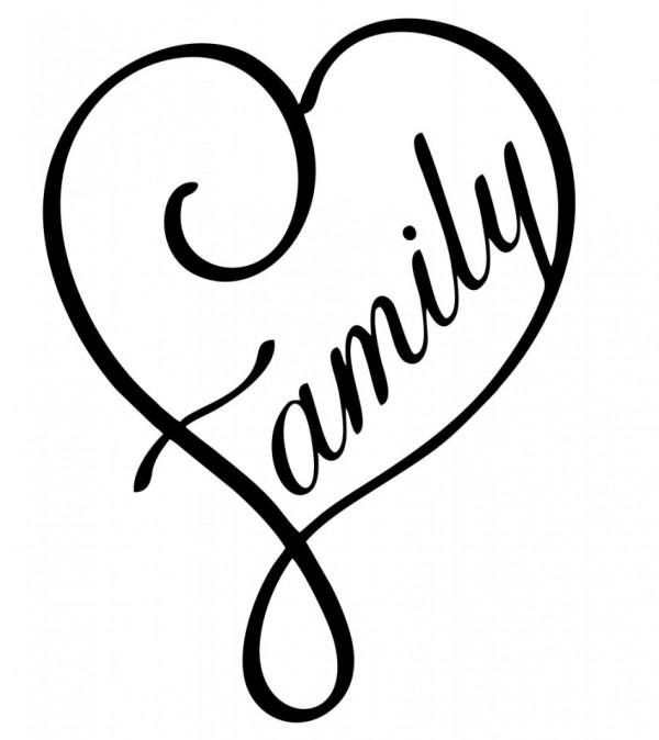 Autocolante - Coração Family