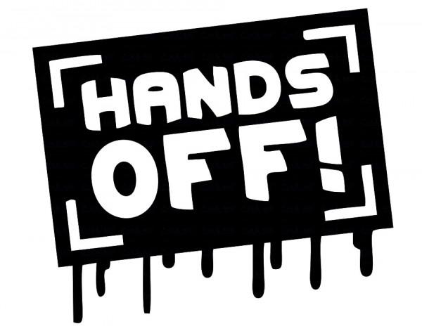 Imagens Autocolante - Hands off