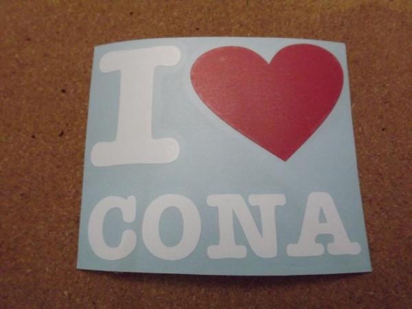 Autocolante - I Love Cona