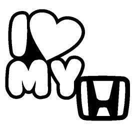 Autocolante - I Love My Honda