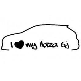Autocolante - I Love my ibiza 6J
