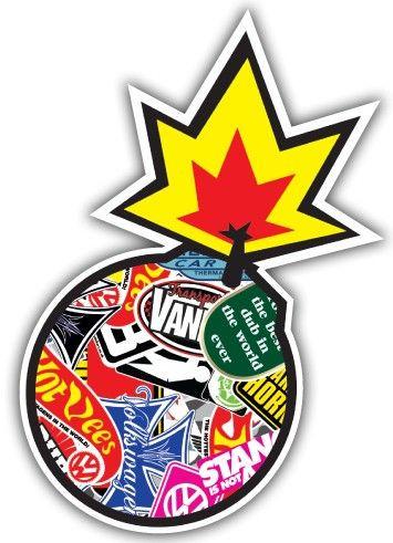 Imagens Autocolante Impresso - Bomba Bomb Sticker