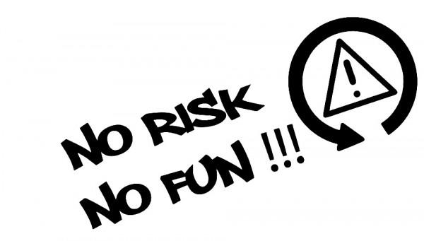 Autocolante - No risk, No fun!