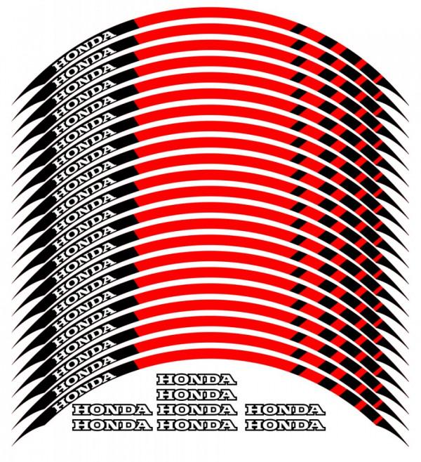 Conjunto de faixas para Jantes com  Honda