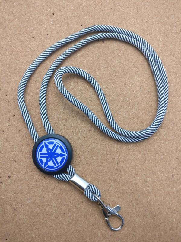Fita Porta Chaves (lanyard) de Pescoço Ajustável para Yamaha (azul)