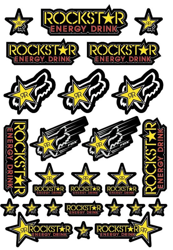 Imagens Folha / Pack de Autocolantes - FOX Rockstar
