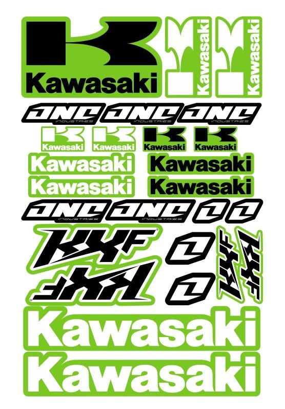 Imagens Folha / Pack de Autocolantes - Kawasaki