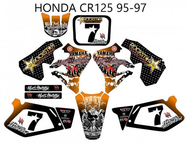 Imagens Kit Autocolantes Para HONDA CR 125 - 95-97