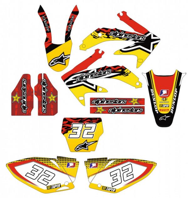 Kit Autocolantes Para Honda crf 450 05-08
