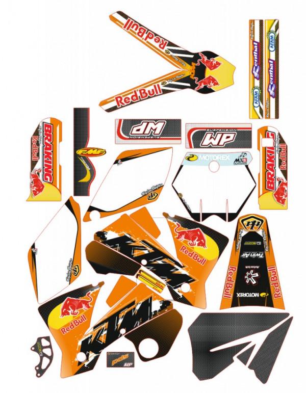 Imagens Kit Autocolantes Para KTM EXC XC XCF 04-07