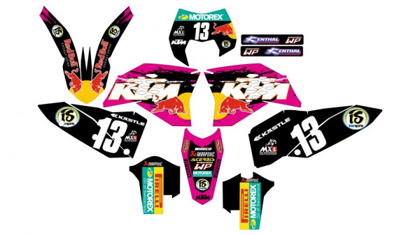 Imagens Kit Autocolantes Para  KTM EXC XC XCF 08-11