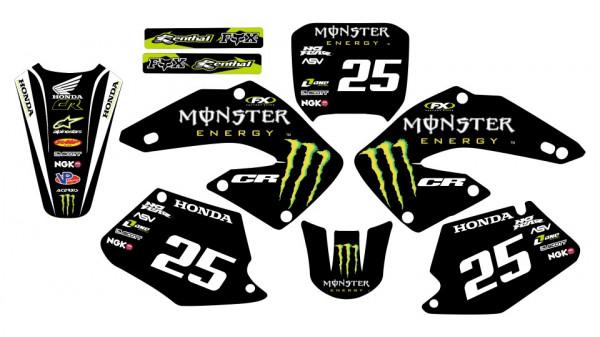 Imagens Kit Autocolantes Para Moto - Honda CR 125 / 250 00-01