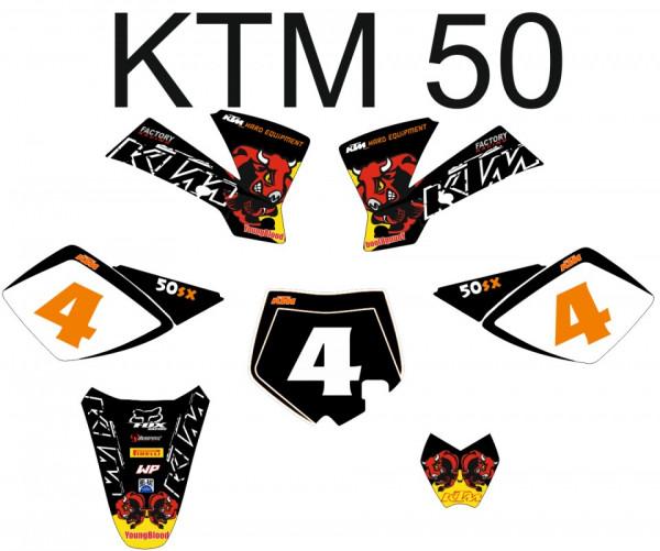 Imagens Kit Autocolantes Para Moto - Ktm SX 50  02-08