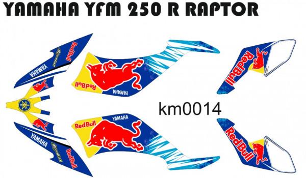 Imagens Kit Autocolantes Para Yamaha YFM 250 R Raptor