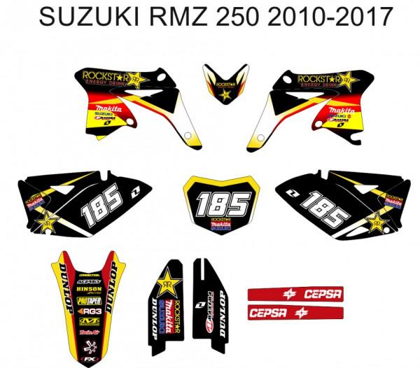Kit de Autocolantes Para Moto - Suzuki RMZ 250 10-17
