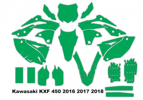 Imagens Molde - Kawasaki KXF 450, 2016 2017 2018
