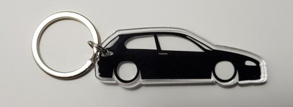 Porta Chaves de Acrílico com silhueta de Alfa Romeo 147