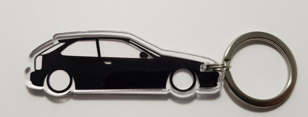 Porta Chaves de Acrílico com silhueta de Honda Civic EK