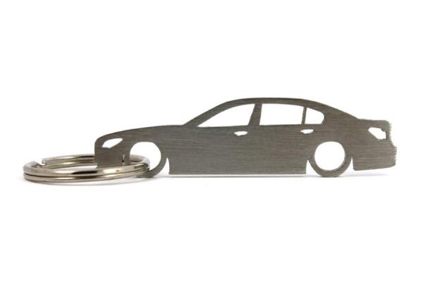 Porta Chaves em inox com silhueta com BMW F01 limousine