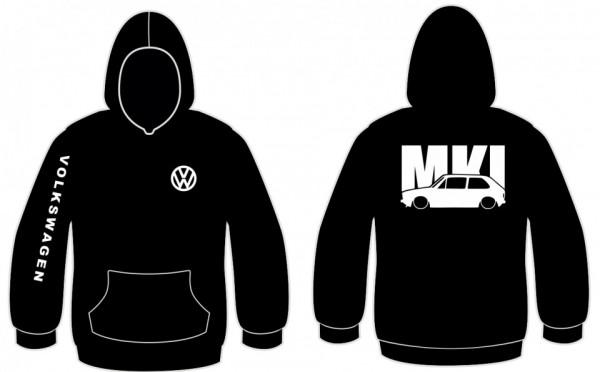 Imagens Sweatshirt com capuz para VW Golf MK1