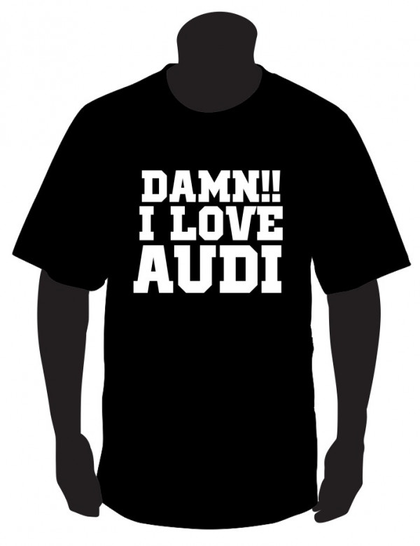 Imagens T-shirt com DAMM I LOVE AUDI