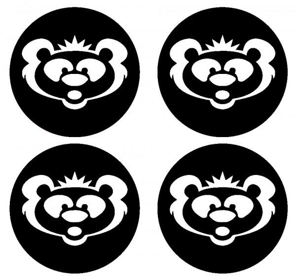 Imagens 4 Autocolantes Para Centros de Jantes com Urso