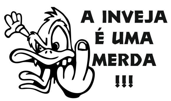 Autocolante - A inveja é uma merda !!!