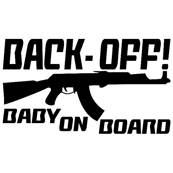Imagens Autocolante - Back Off baby on board