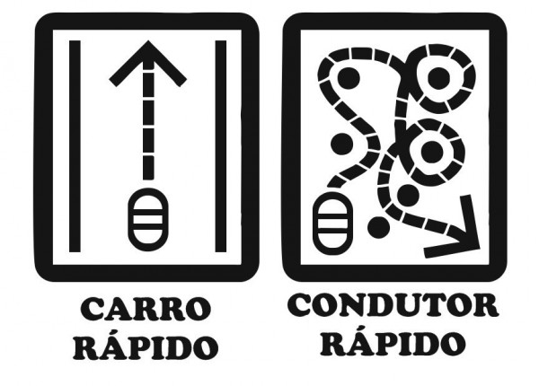 Imagens Autocolante - Carro rápido, Condutor Rápido