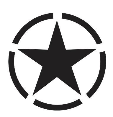 Imagens Autocolante com Army Star