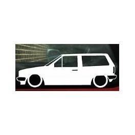 Autocolante com Volkswagen Polo MK2 Van