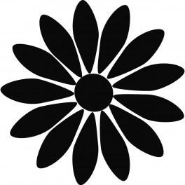 Autocolante - Flor