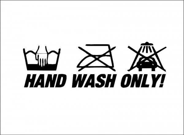 Autocolante - Hand Wash Only