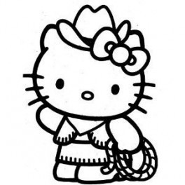 Autocolante - Hello Kitty Cowgirl