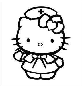 Imagens Autocolante - Hello kitty Efermeira