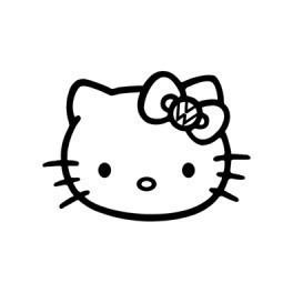 Autocolante - Hello Kitty VW