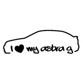 Imagens Autocolante - I love my astra G