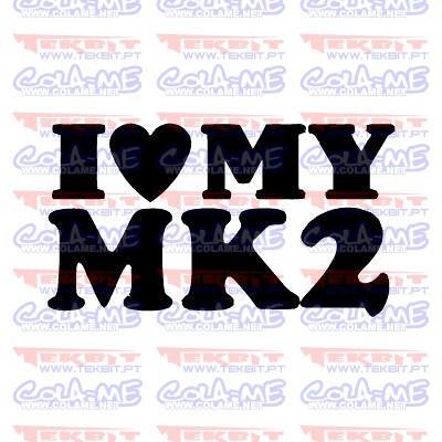 Autocolante - I love My MK2