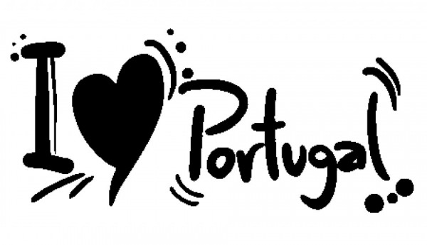 Autocolante - I love Portugal