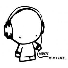Autocolante - Music is My Life